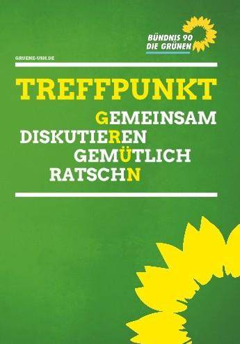 Plakat Treffpunkt Grün