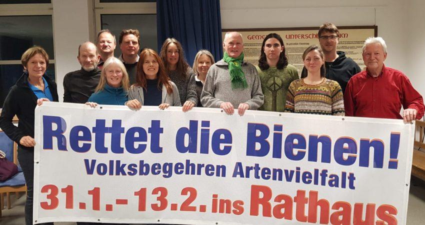 Foto vom Aktionsbündnis Schleißheim für das Volksbegehren Artenvielfalt - Rettet die Bienen!