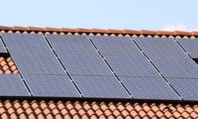 Solarpanele einer Photovoltaikanlage