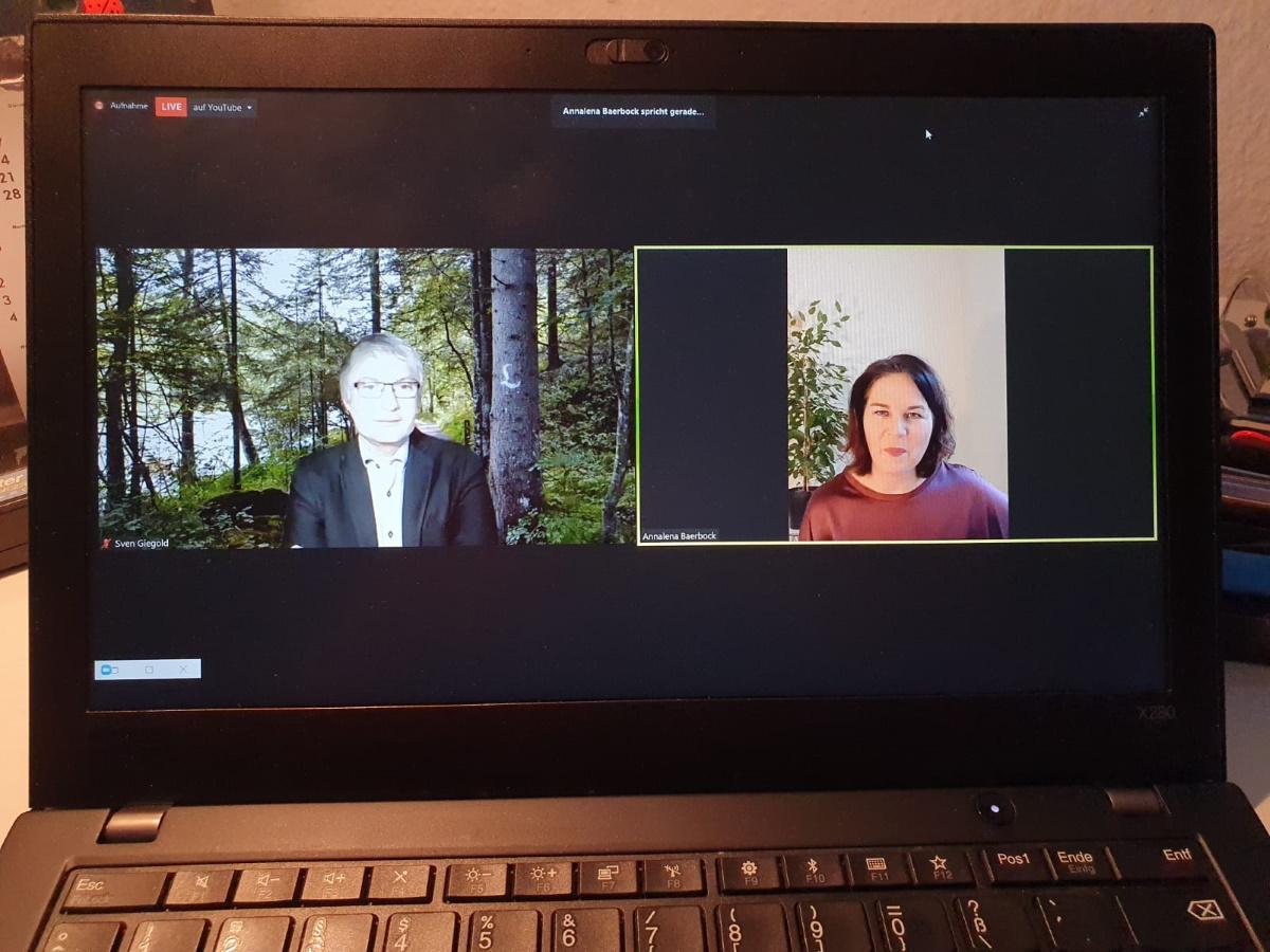 Online-Neujahrsempfang mit Annalena Baerbock und Sven Giegold